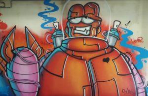 graffiti kunst van brikkiebriks in de halloffame breda ilovebreda