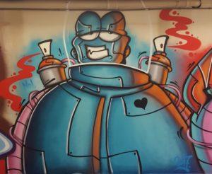 graffiti kunst van sniekart in de halloffame breda ilovebreda